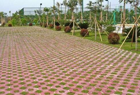 环保彩砖案例图片